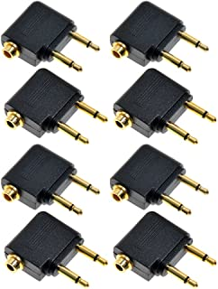 Kmise A7230 New 3.5mm Female Stereo to 2X 3.5mm Male Mono Headphone Earphone Jack Audio Adapter, 8 Pieces