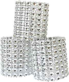 Atomcool Napkin Rings, 100 Pcs Rhinestone Napkin Rings Diamond Napkin Holder Buckles for Christmas, Table Decorations, Wed...
