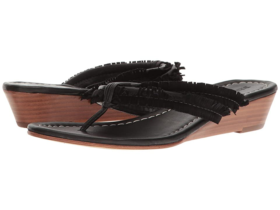 Bernardo Miami Fringe Wedge (Black) Women