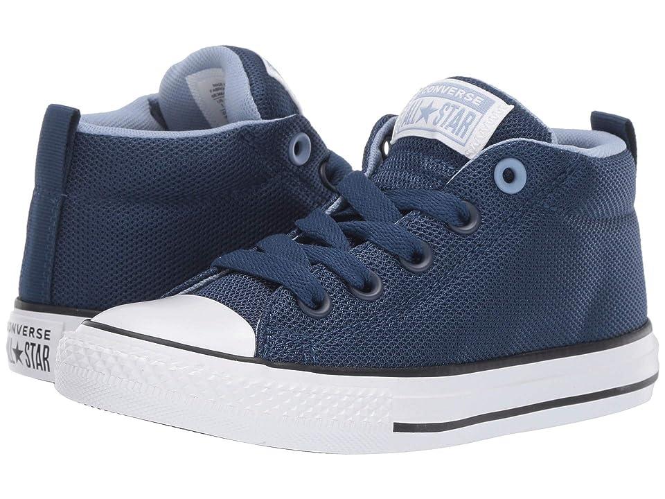 Converse Kids Chuck Taylor All Star Street Uniform Mid (Little Kid/Big Kid) (Navy/Indigo Fog/White) Boys Shoes
