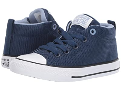 Converse Kids Chuck Taylor All Star Street Uniform Mid (Little Kid/Big Kid) (Navy/Indigo Fog/White) Boys Shoes