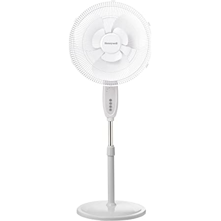HONEYWELL Double Blade 16 Pedestal Fan White with Remote Control