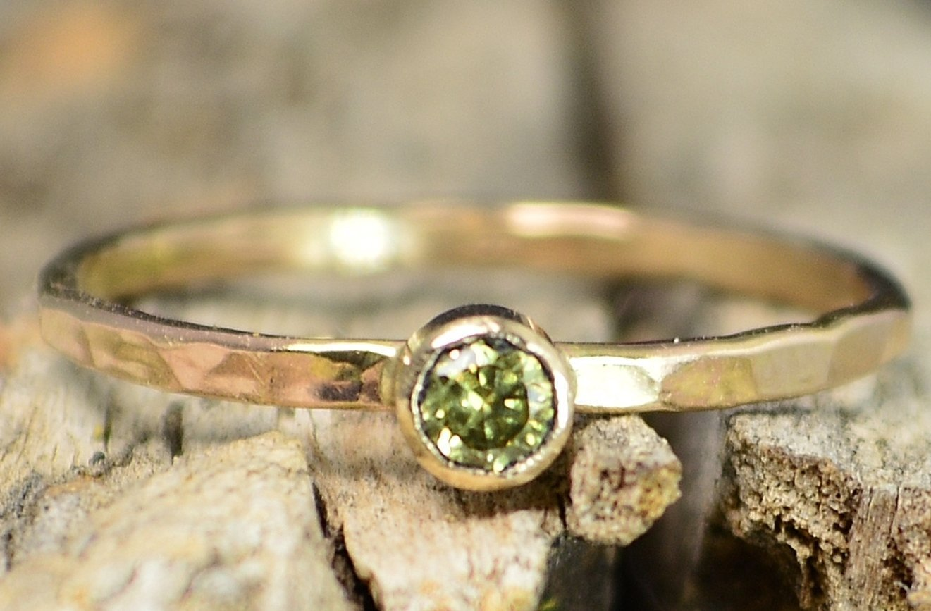 Classic Solid 14k free Gold Individually Ring Sold Topaz Ranking TOP14