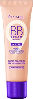 Rimmel Match Perfection BB Cream Foundation Matte, Light Medium, 1 Fluid Ounce