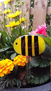Fused Glass Bee Garden Stake Summer Gift Present Decoration Garden Decor Ornament