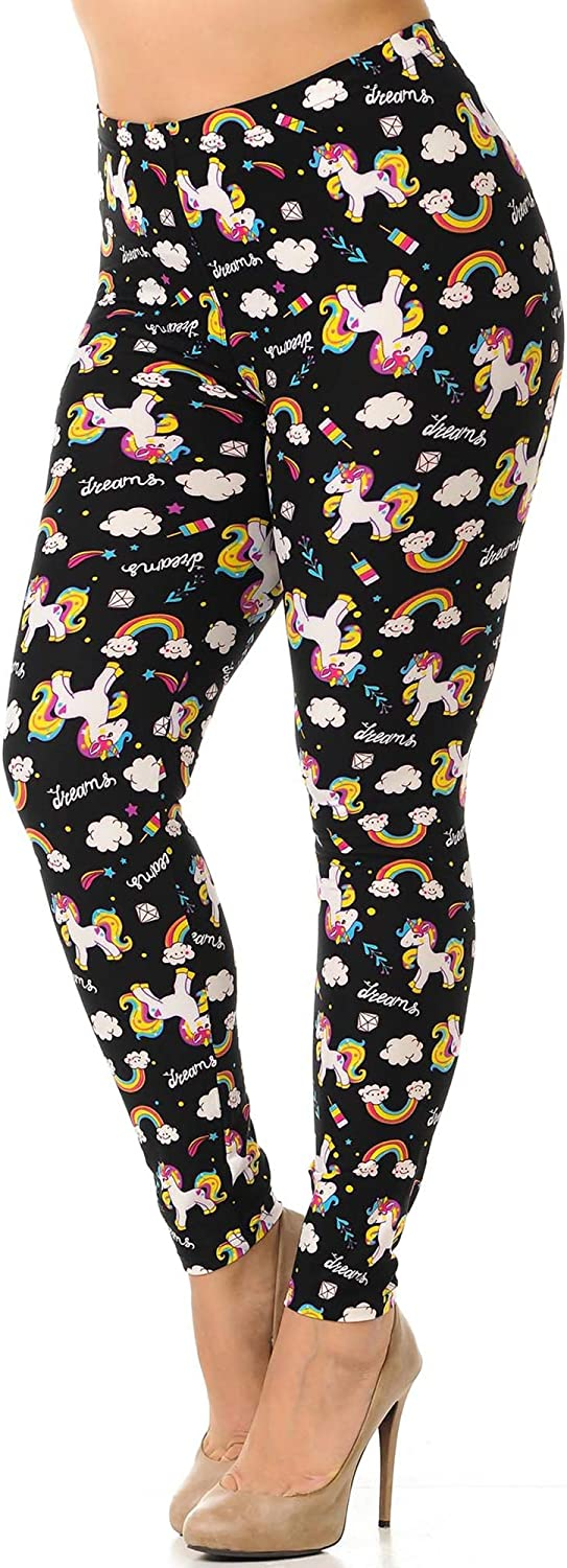 World of Leggings Plus Size Buttery Soft Printed Leggings - Shop 45 Styles