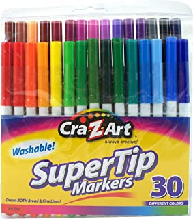 Cra-Z-Art Washable Super Tip Markers, 30 Count