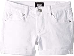 Five-Pocket Roll Cuff Shorts in Vintage White Wash (Big Kids)