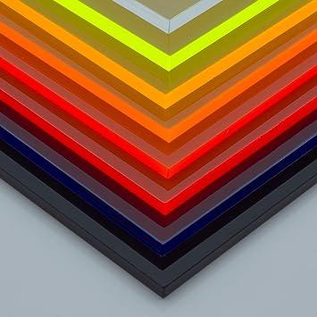 in-outdoorshop Plexiglas/® Zuschnitt Acrylglas Platte in unterschiedlichen Farben 100mm x 200mm x 3mm, rot fluoreszierend