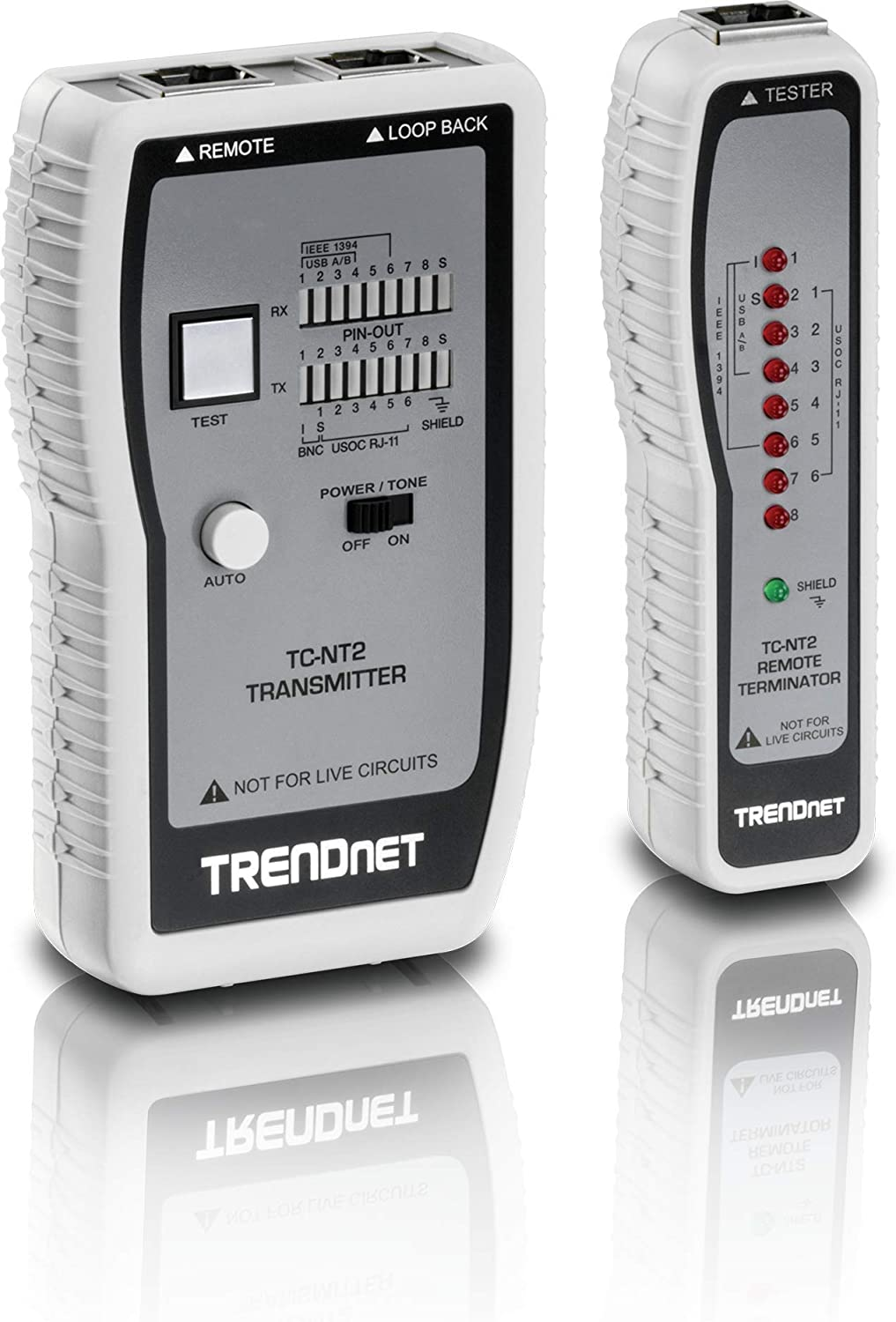 PoE+ LED Display Wattage TRENDnet Inline PoE Tester Battery-Free Voltage Polarity Tests 4PPoE Troubleshoot PoE Issues PoE /& Passive PoE Technology TC-NTP1 Amperage IEEE 802.3af//at//bt