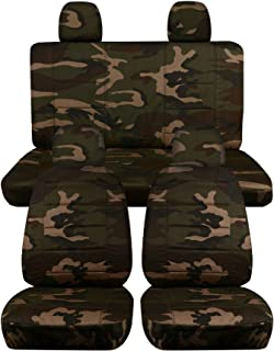 Totally Covers compatible with 2012-2018 Volkswagen New Beetle/Bug A5 Camo Seat Covers: Brown & Green Camouflage - Full Se...