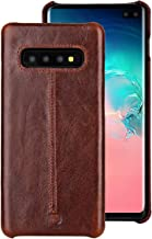 Samsung Galaxy S10+ Case,Pierre Cardin Premium Genuine Cowhide Handcrafted Vintage Shell Hard Back Cover for Samsung Galaxy S10+(6.4