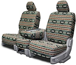 Custom Fit Seat Covers for Mercedes 500SL-600SL Front Low Back Seats - Green Aztec Fabric