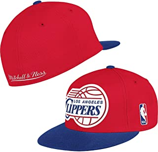 Los Angeles Clippers Mitchell & Ness XL Vintage Logo 2 Tone Fitted Hat