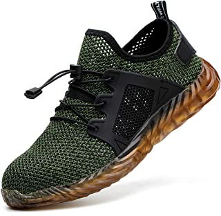 Indestructible Work Shoes for Men Steel Toe Breathable Sneakers