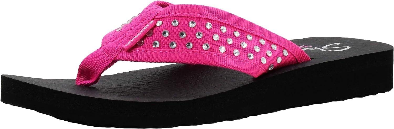 OFFicial site Skechers Cali Columbus Mall Women's Flop Flip Meditation-Rhinestone