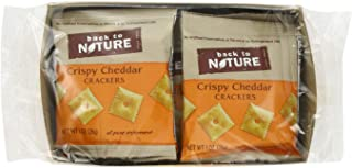 Back to Nature Non GMO Grab & Go Crackers, Crispy Cheddar, 1-Ounce Bags (Pack of 32)