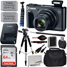 "Canon PowerShot SX730 HS Digital Camera with Essential Bundle - Includes: SanDisk Ultra 64GB Memory Card, Extended Life Replacement Battery (NB-13L), 57"" Tripod, Carrying Case & More"