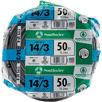 14//3 W//GR 20/' FT UF-B OUTDOOR DIRECT BURIAL//SUNLIGHT RESISTANT ELECTRICAL WIRE
