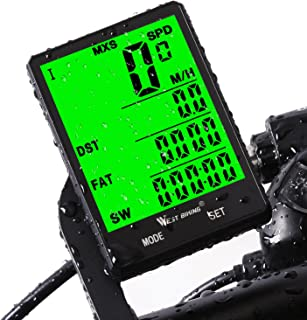 Cycle Computer, Bike Odometer Speedometer for Bicycle, Waterproof LCD Automatic Wake-up Backlight...