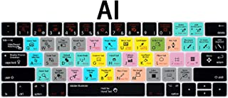 MMDW for Adobe Illustrator AI Shortcuts Hotkey Ultrathin Keyboard Cover Compatible MacBook Pro 13 15 inch 2019 2018 2017&2016 with Touch Bar&Touch ID Model:A2159 A1989 A1706/A1990 A1707,USA Version