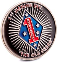 Art Crafter USMC 1st MARDIV The First 1st Marine Division Challenge Coin The Old Breed Badge Blue Diamond US1