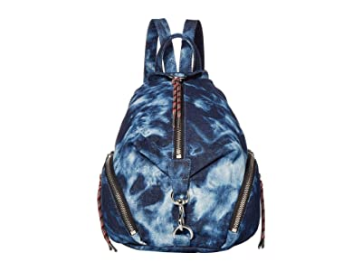Rebecca Minkoff Medium Tie-Dye Julian Backpack (Denim) Backpack Bags