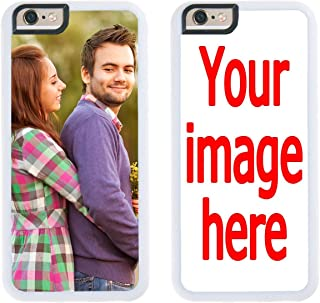 Custom iPhone 6s Plus Cases iPhone Cover iZERCASE [Personalized Custom Picture CASE] Make Your Own Phone Case (White, iPhone 6s Plus)