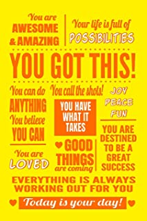You Got This: Sunshine Yellow Journal Notebook