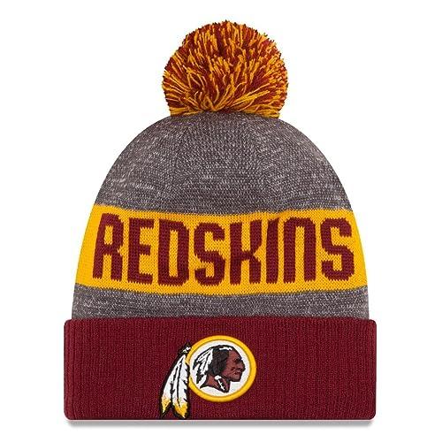 New Era Knit Washington Redskins Biggest Fan Redux Sport Knit Winter  Stocking Beanie Pom Hat Cap 3e53dd610842