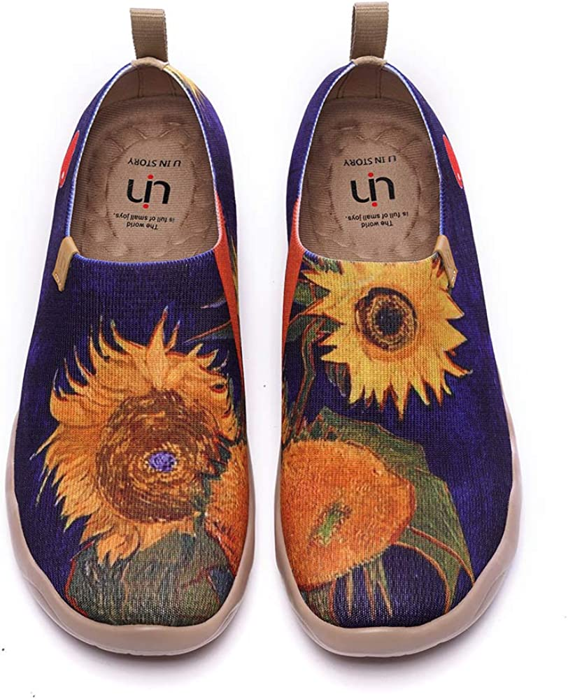 UIN Women's Slip On 40% overseas OFF Cheap Sale Sneakers Art Knitted Casual Painted Loafers