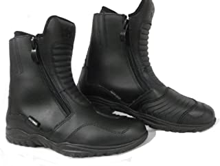 Oxford Seguidor Impermeable Cuero De La Motocicleta Moto Botas EU 42 Negro Negro
