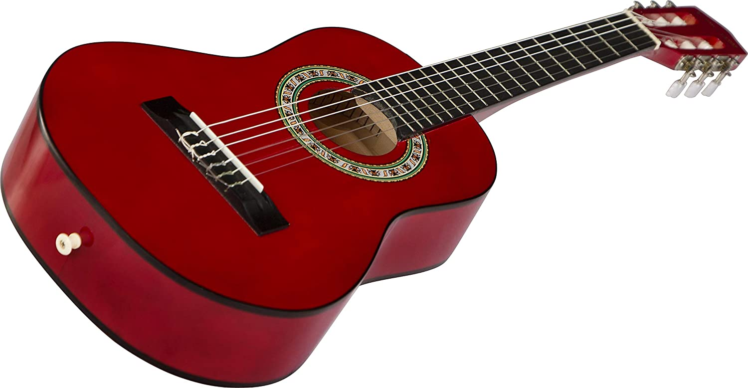 Stretton Payne Acoustic Guitar Package 1//4 Sized Kids Age 3 to 6 Classical Nylon String Childrens Guitar Pack Natural 31 inch