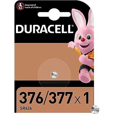 Duracell - 376/377, Batteria Bottone, 1.5V, Specialistica per Orologi, Confezione da 1, (SR66 / SR626 / V377 / V376 / SR626W / SR626SW) Progettato per l'Uso in Orologi, Calcolatrici e Dispositivi