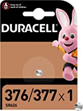 Duracell Pilas especial de óxido de plata 377/376 de 1.55 V, paquete de 1 unidad SR66/SR626/V377/V376/SR626W/SR626SW, diseñadas para su uso en relojes, calculadoras, dispositivos médicos