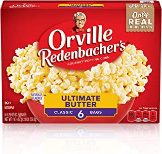 Orvillle Redenbacher's Ultimate Butter Microwave Popcorn, 6 Packs (118.44 Ounces Total)
