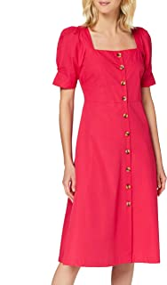 Amazon-Marke: find. Damen Midi-Baumwollkleid in A-Linie
