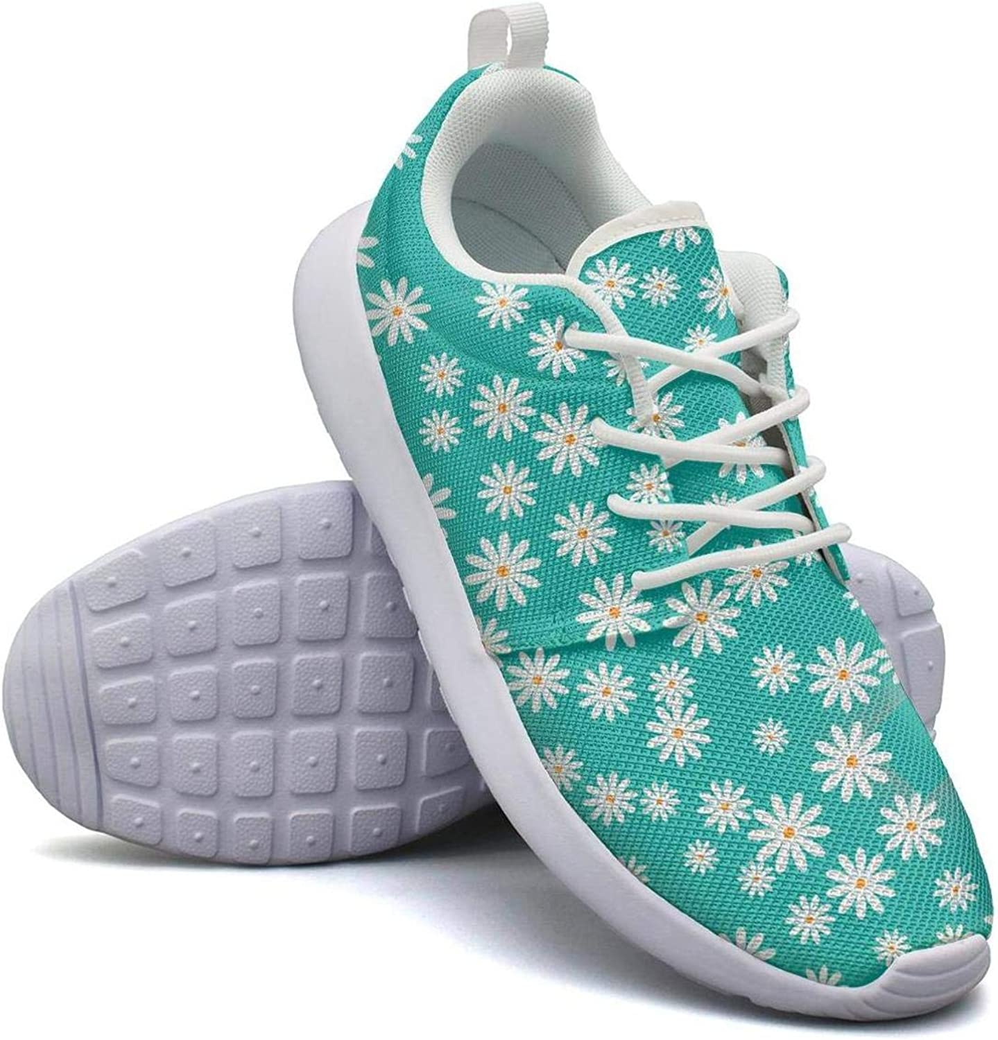 CHALi99 Comfort Womens Lightweight Mesh shoes Daisy Daisies Flowers Sneakers Sport Rubber Sole