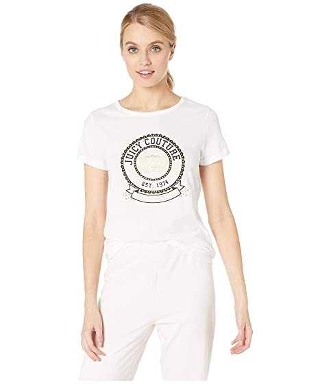 Juicy Couture Crown Stone Logo Tee, BRIGHT WHITE