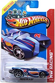 Hot Wheels Prototype H-24 (Treasure Hunt Logo) HW Racing / HW Race Team 2013 Basic Car 1:64 Scale Series Collector #101 of 250