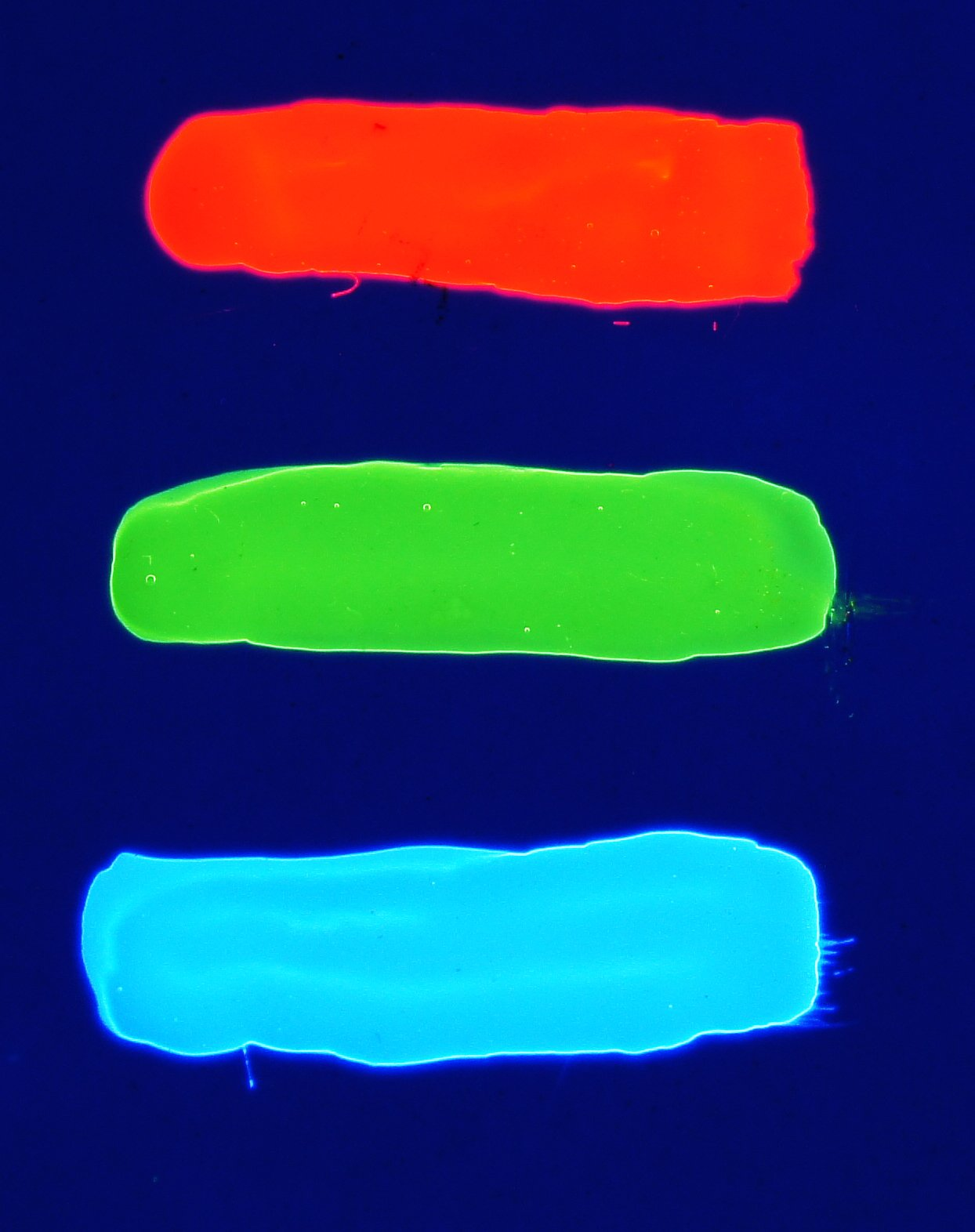 Invisible Transparent UV Reactive Blacklight Paint - Blue