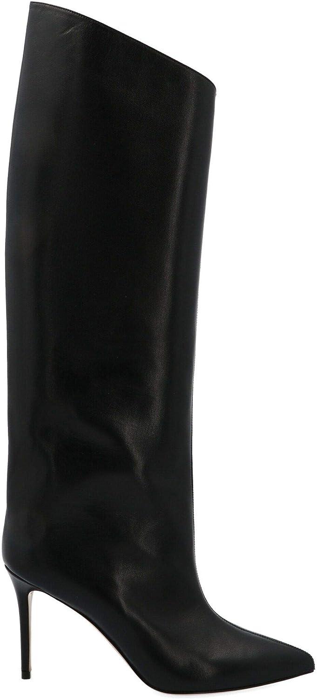 ALEXANDRE VAUTHIER Damen ALEX90Stiefelschwarz Schwarz Leder Stiefel