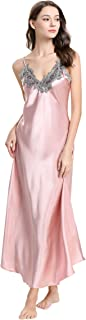 Women's Nightdress Lace Satin Nightgowns Sexy Lingerie Long Chemise Sleepwear