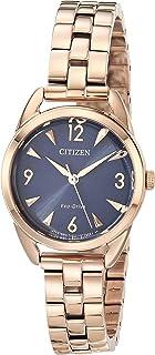 Citizen Women's Drive Quartz Stainless Steel Strap, Pink, 11 Casual Watch (Model: EM0688-78L)