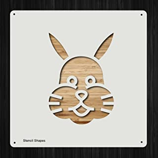 Rabbit Face Rabbit Head Plastic Mylar Stencil for Painting, Walls and Crafts, Item 655813