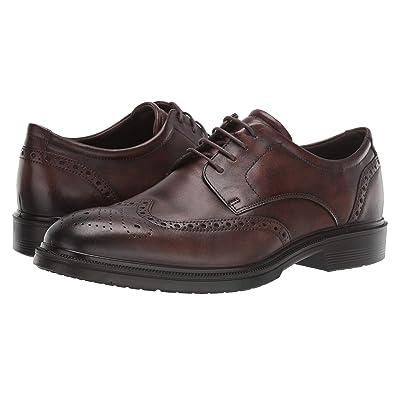 ECCO Lisbon Brogue Tie (Cocoa Brown Cow Leather) Men