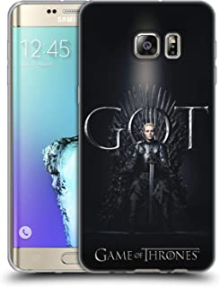 Official HBO Game of Thrones Brienne of Tarth Season 8 for The Throne 1 Soft Gel Case Compatible for Samsung Galaxy S6 Edge+ / Plus