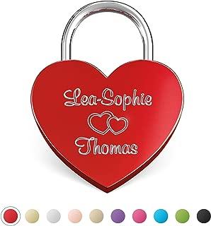 LIEBESSCHLOSS-FACTORY Candado de amor Rojo grabado en forma