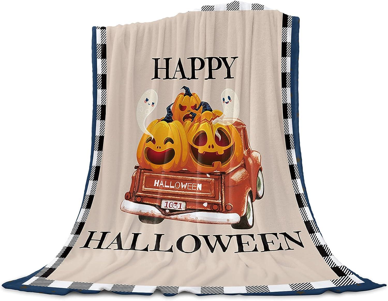 Blanket 40x50 Cheap bargain Inch Charlotte Mall Soft Fuzzy Throw Happy Hallo Flannel