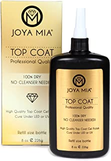 JOYA MIA Top Coat Gel Polish Refill Size Bottle 8oz Each NO Cleanser Needed